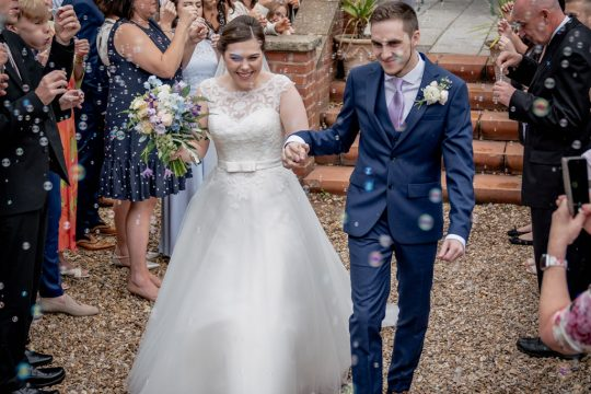 Confetti shot at Nunsmere Hall with Bubbles