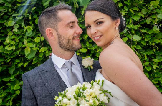 Wedding Couple in Summer Sun Flare